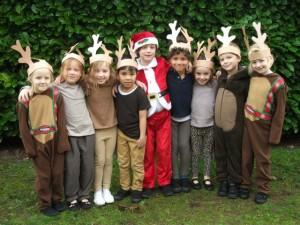 Xmas reindeer and Santa