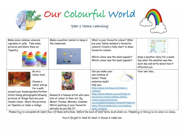 thumbnail of homework grid Our Colourful World