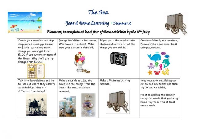 thumbnail of The Seaside homework grid